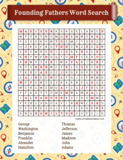 Founding Fathers Word Search